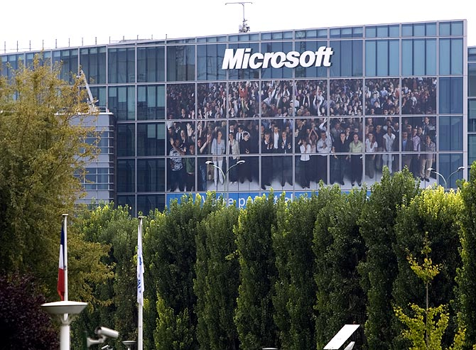 General view of Microsoft Corporation new headquarters in Issy-les-Moulineaux, near Paris.