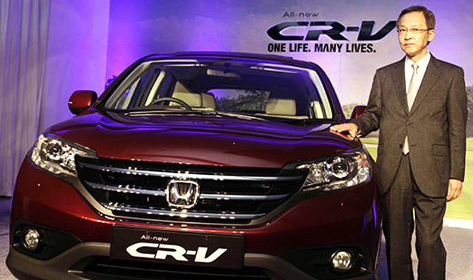 Hironori Kanayama, President & CEO, Honda Cars India on the occasion of All new 4th Generation Honda CR-V launch in India.