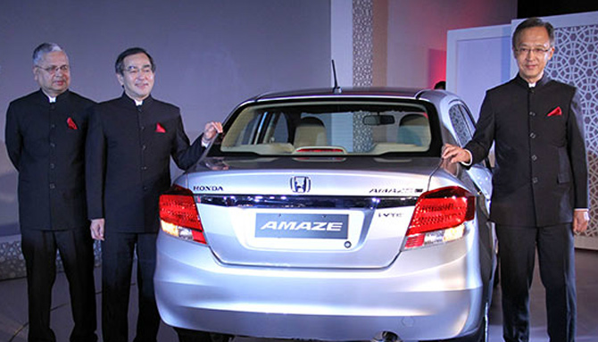 Hironori Kanayama at the launch of Honda Amaze.