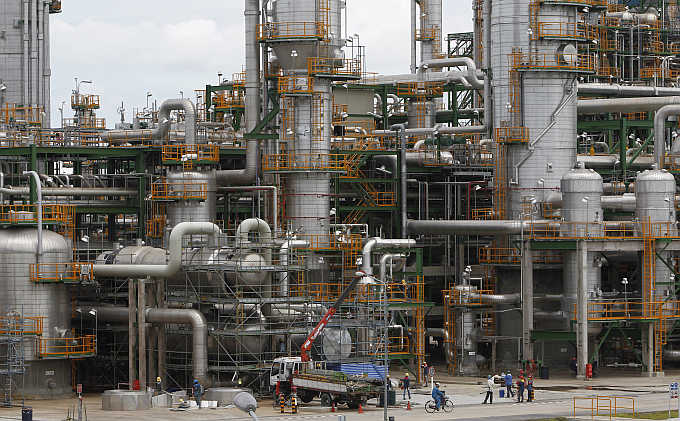 Thailand's PTT Chemical complex at the Map Ta Phut industrial estate in the eastern province of Rayong.