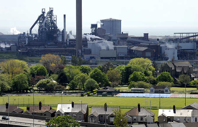 Tata Steel plant in Port Talbot, South Wales.