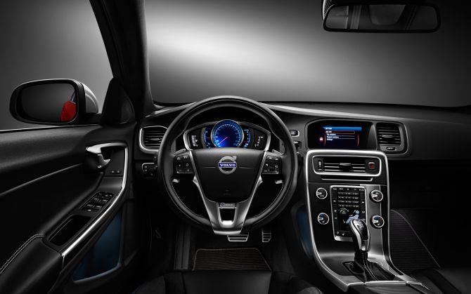 Interior of Volvo S60.