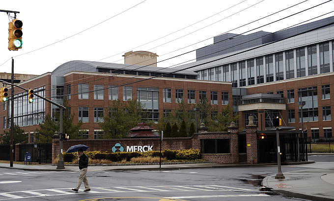 A view of the Merck & Company campus in Linden, New Jersey.