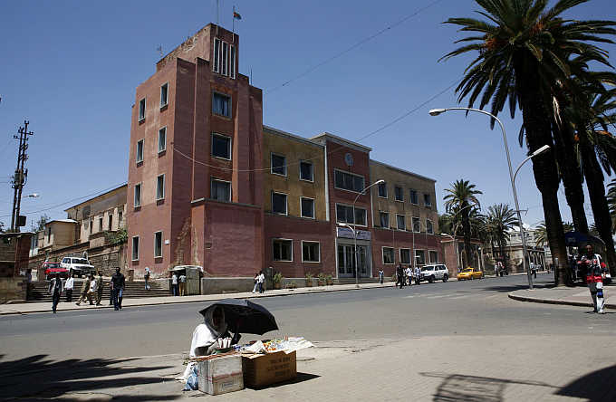 A view of capital Asmara, Eritrea.