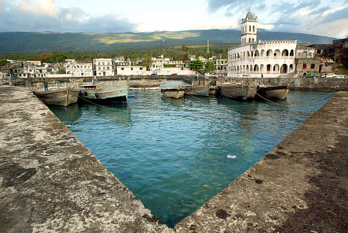 A view of the harbour in the Comoran capital Moroni.