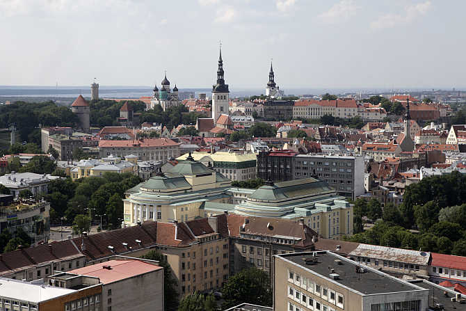 View of capital Tallinn in Estonia.