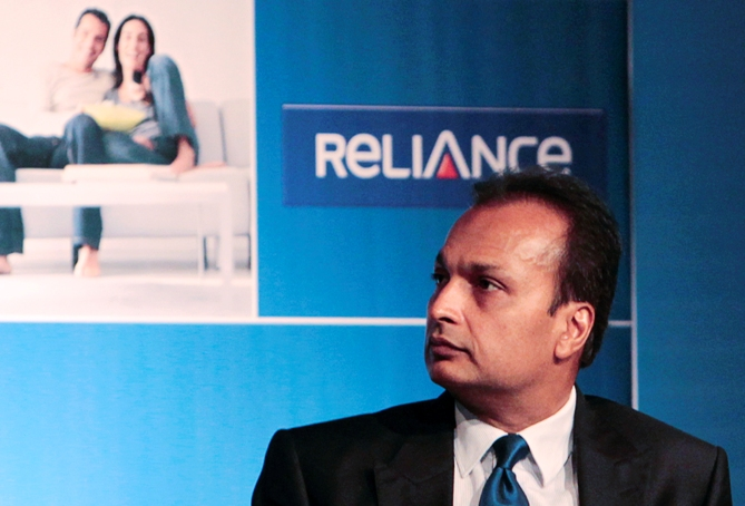 Anil Ambani, chairman of the Reliance Anil Dhirubhai Ambani Group, attends an annual general meeting of Reliance Capital.