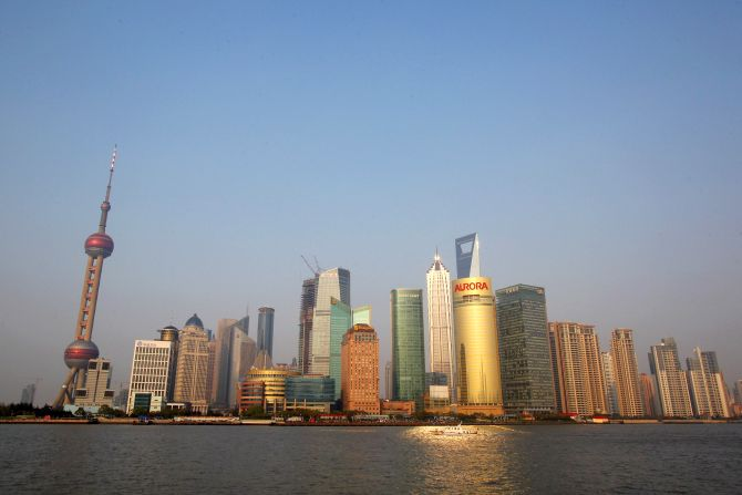 A general view of the skyline of Pudongs Lujiazui Financial District in Shangha.