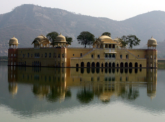A general view of the Jal Mahal also known as Water Palace is seen in Jaipur