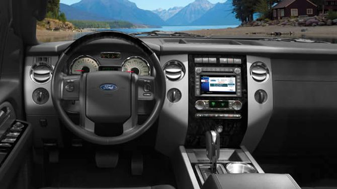 Ford Expedition EL interior.