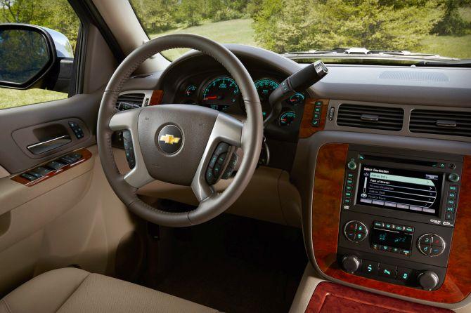 Chevrolet Suburban interior.