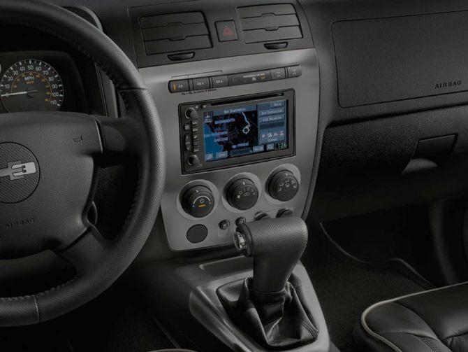 Hummer H2 interior.