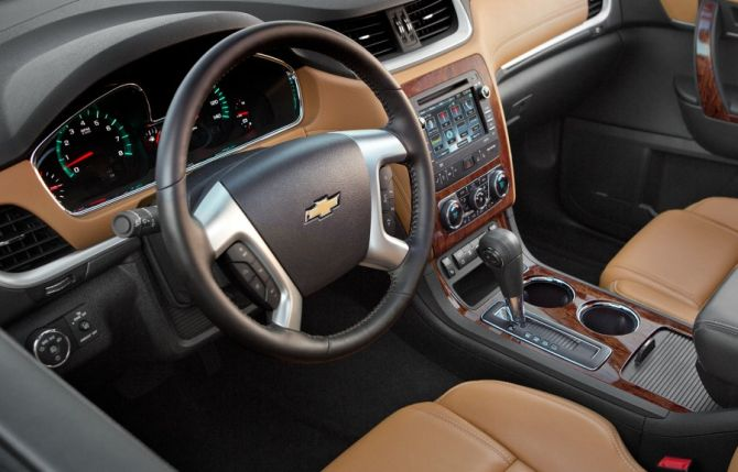 Interior of Chevrolet Traverse.