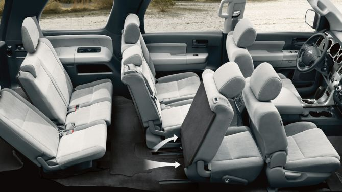 Toyota Sequoia interior.