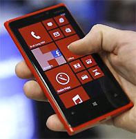 Nokia Lumia. Photograph: Kacper Pempe/reuters