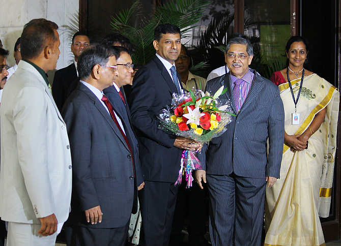 Raghuram Rajan takes over from Subbarao at RBI