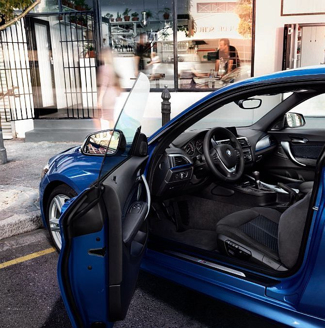 Interior of BMW 1 Series.