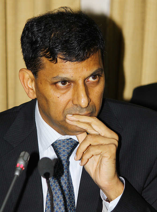 Raghuram Rajan addresses a press conference at the Reserve Bank of India headquarters in Mumbai on Wednesday, soon after taking over from D Subbarao