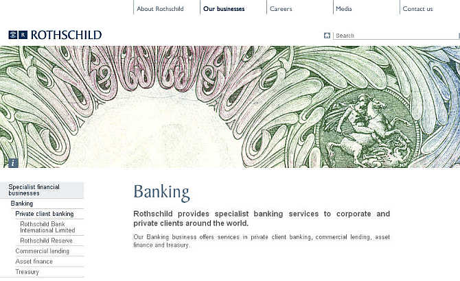 Homepage of Rothschild.