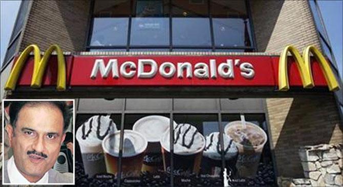 McDonald's. Vikram Bakshi (inset)