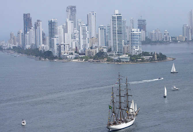 A view of Cartagena, Colombia.