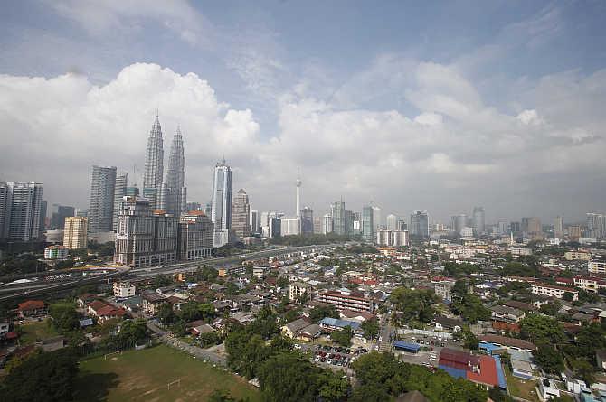 A view of Kuala Lumpur, Malaysia.
