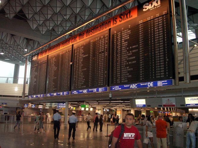 Information Panel, Terminal 1 at Frankfurt Airport