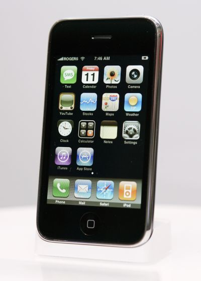 The new Apple iPhone 3G is displayed in Toronto.