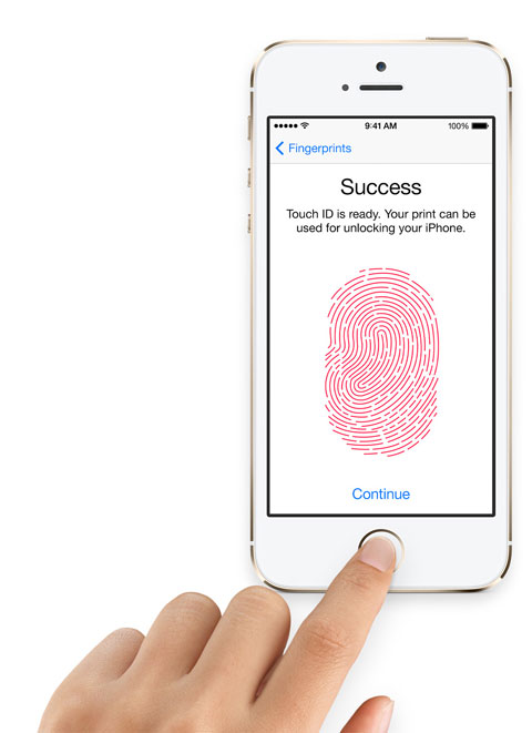 Touch ID. Your fingerprint, your iPhone.