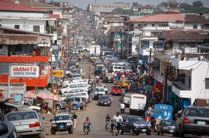 Downtown Monrovia.