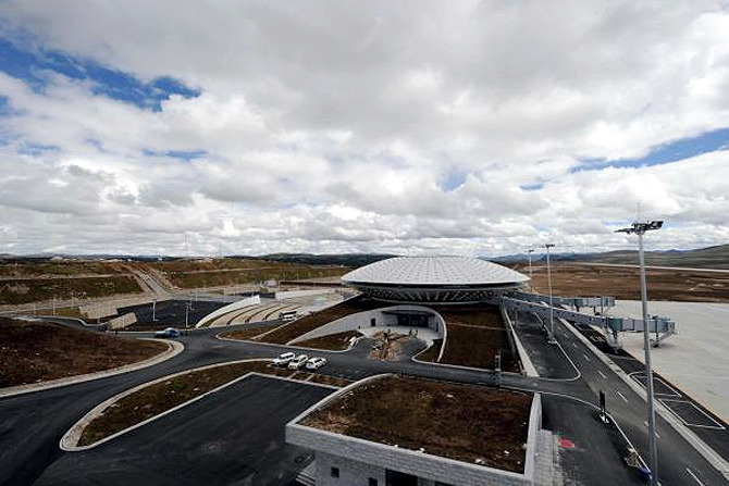 Reuters A view shows the Daocheng Yading Airport under construction in Daocheng.