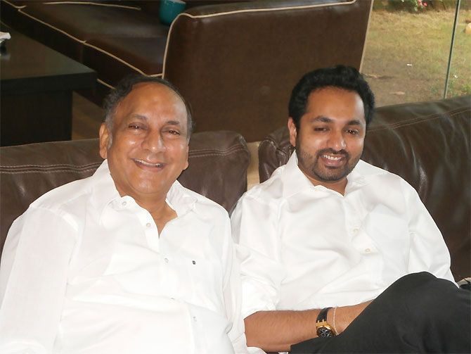 Vijay Papparao with his son Hemant