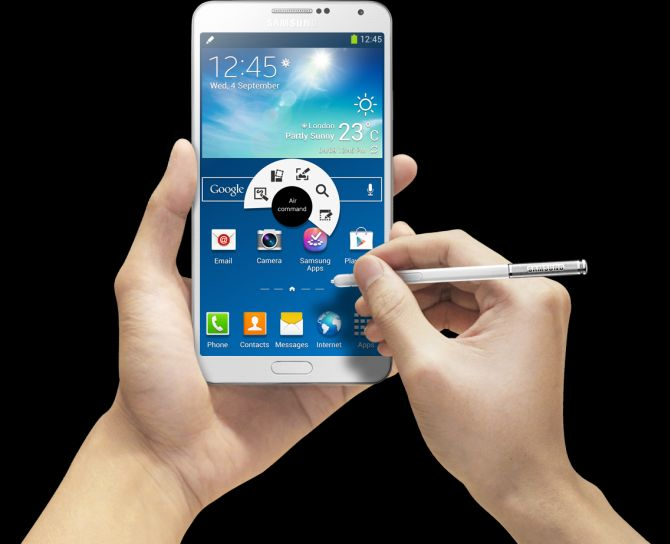 Samsung unveils Note 3 for Rs 49,900; smartwatch for Rs 22,990
