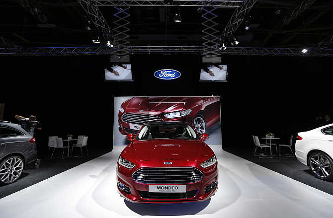 Ford Mondeo on display in Paris, France.