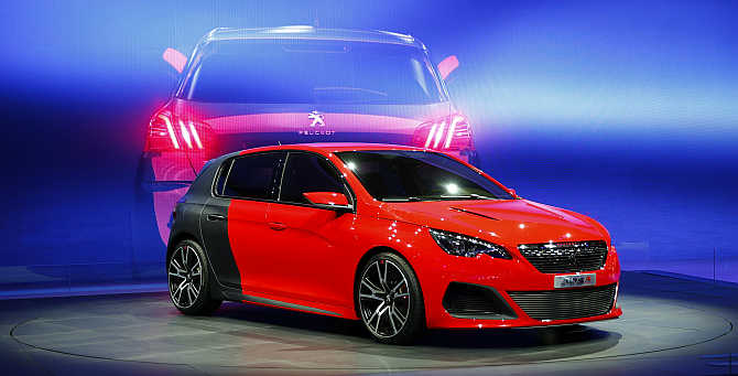Peugeot 308 R on display Frankfurt, Germany.