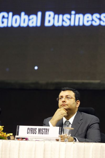 Tata Group chairman Cyrus Mistry attends the Vibrant Gujarat Summit at Gandhinagar in the western Indian state of Gujarat.