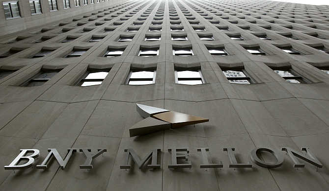BNY Mellon's headquarters in New York city's financial district.