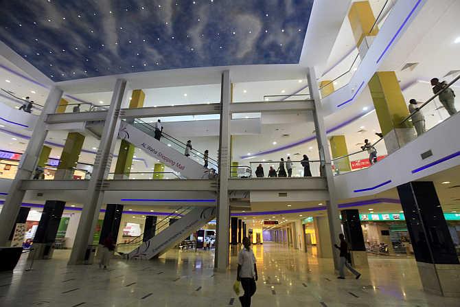 Al Waha Mall in Khartoum, Sudan.