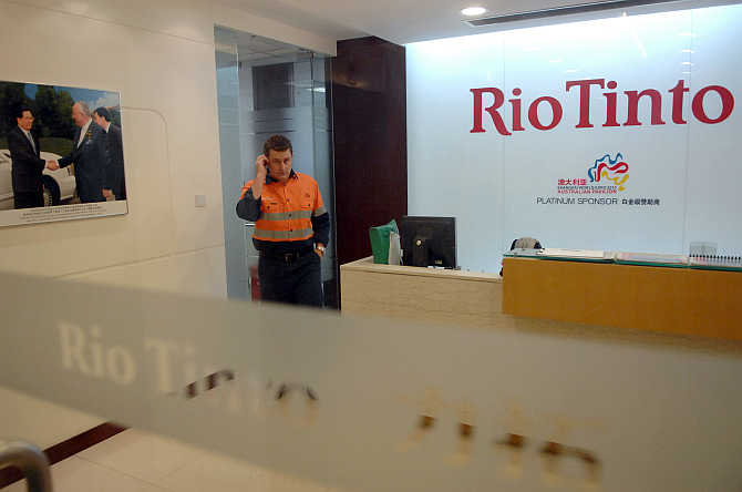 Rio Tinto's Shanghai Representative Office in Shanghai, China.