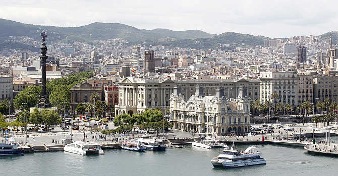 A view of Barcelona, Spain.