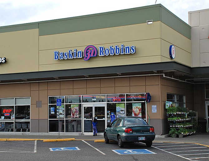 A view of Baskin-Robbins restaurant in southeast Hillsboro, Oregon.