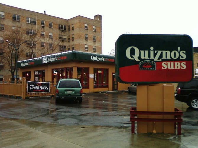 A Quizno's Subs restaurant in Denver, Colorado.