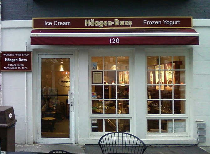 Haagen-Dazs's restaurant in Brooklyn, New York.