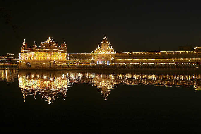 Golden Temple is illuminated for Baisakhi festival in Amritsar. Punjab is fourth-most developed state in India.