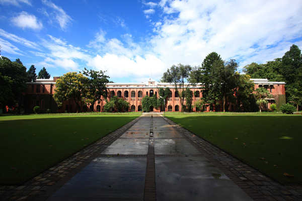 Main building of The Doon School behind the central lawns in Uttrakhand. The report says Uttrakhand is sixth-most developed state.