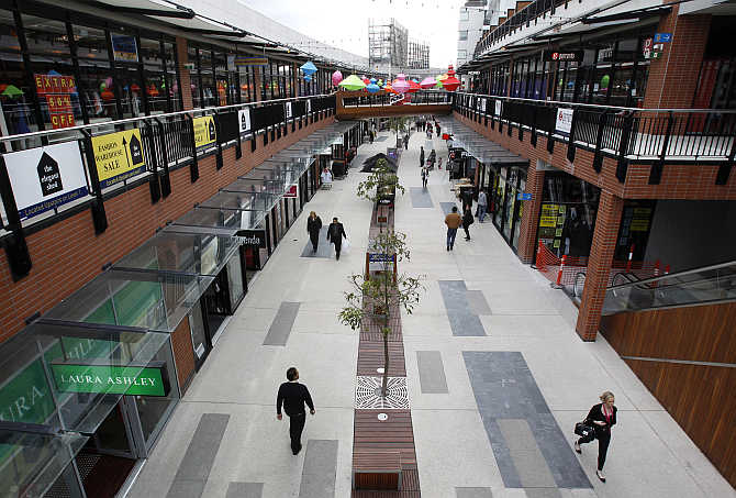 An outdoor shopping mall in Melbourne, Australia.