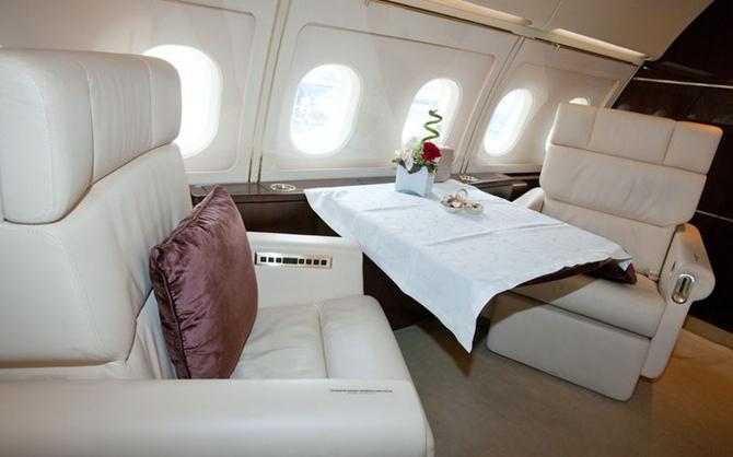 ACJ318 corporate jet.