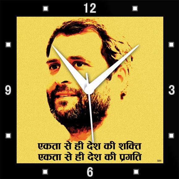 Rahul Gandhi wall clock.