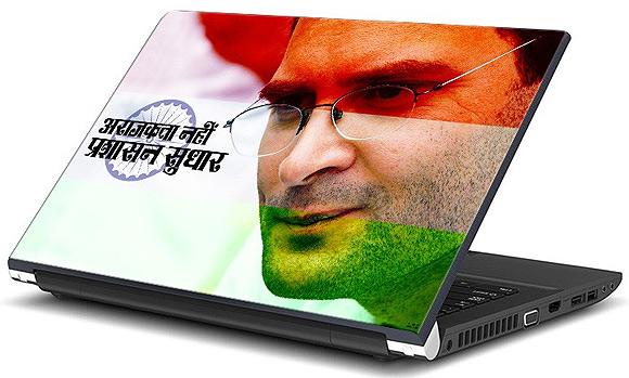 Rahul Gandhi laptop skin.