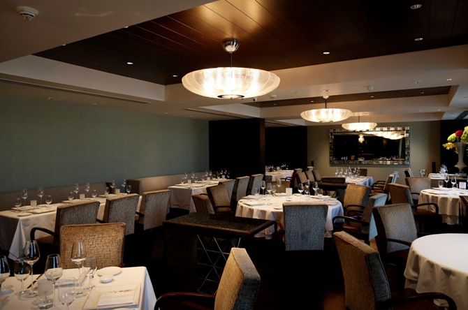 A view of Le Cirque Signature restaurant at Leela Mumbai hotel in Mumbai.